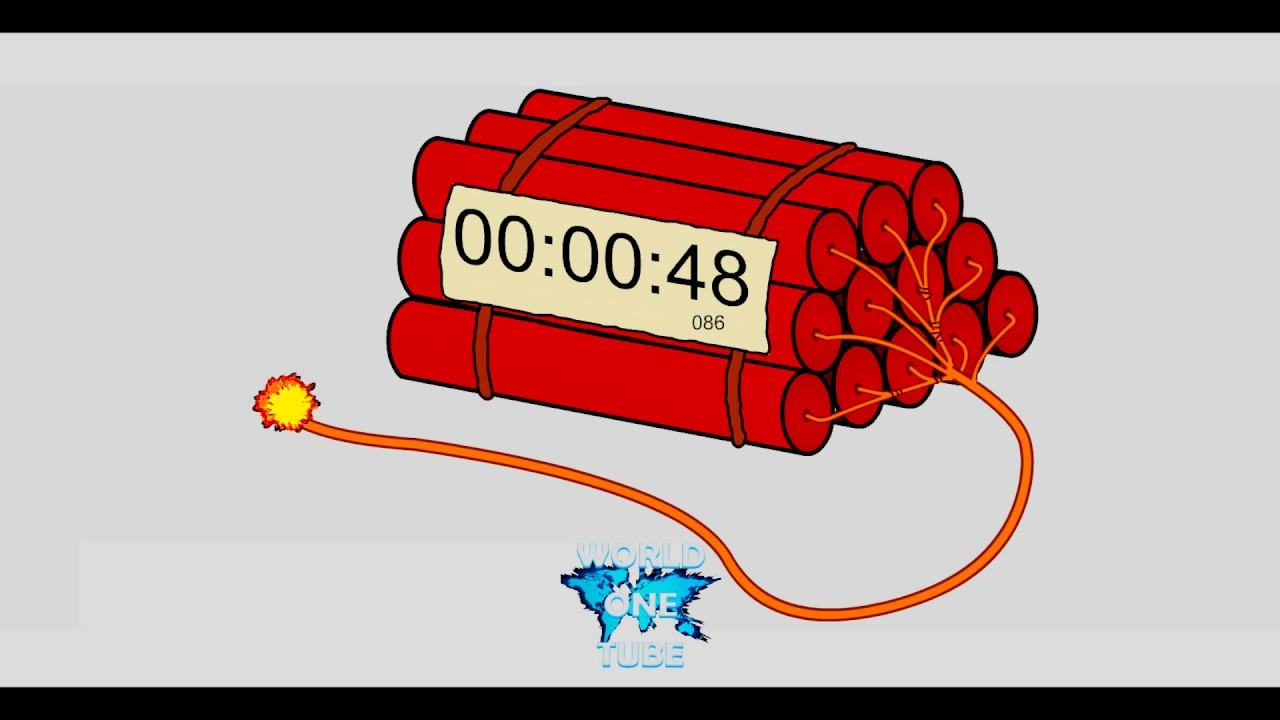 countdown dynamite timer 1 minute youtube