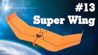 Kids easy origami - How to make paper airplane glider #13| Super Wing