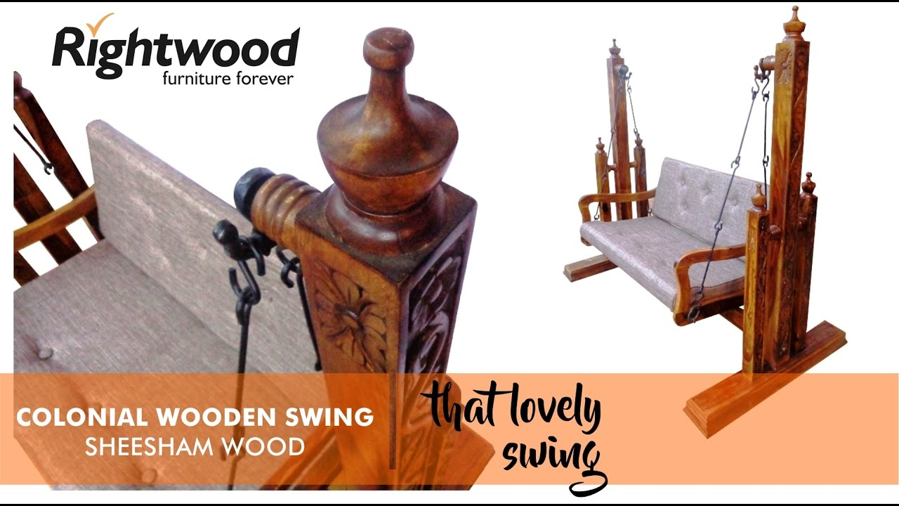 Wooden Swing Jhula By Rightwood Furniture For Your Porch Or Living Room