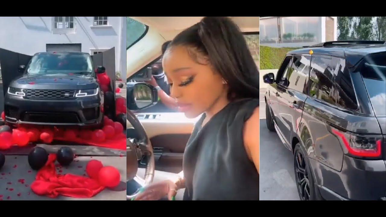 Faith Nketsi's boyfriend gifts her a Range Rover to celebrate their anniversary
