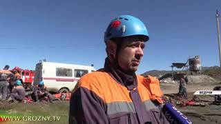 В горах Чечни проходят соревнования по рафтингу и спасению людей на воде