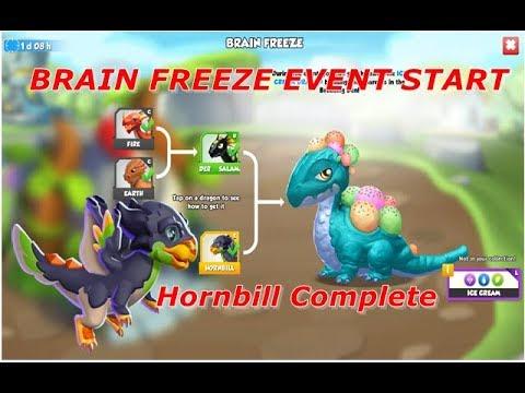 BRAIN FREEZE EVENT-DRAGON MANIA LEGENDS | HORNBILL COMPLETE | SOLO EVENT | DML | HD