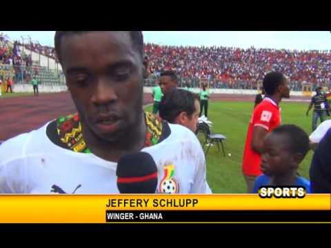 GHANA 2 - 0  COMOROS GYAN, AYEW, SCHLUPP AND JONATHAN MENSAH INTERVIEWS
