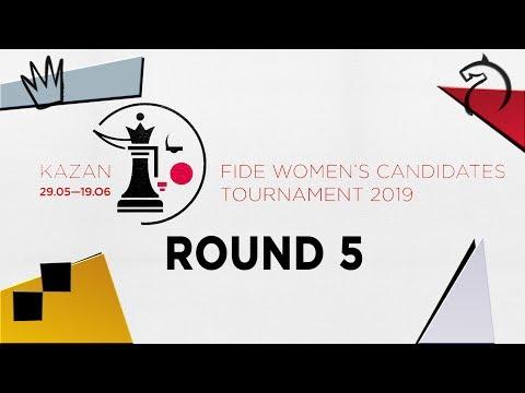 FIDE Women's Candidates Tournament 2019  Round 4  - YouTube