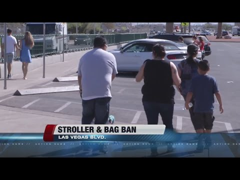 Stroller and bag ban proposed for large events on Las Vegas Strip