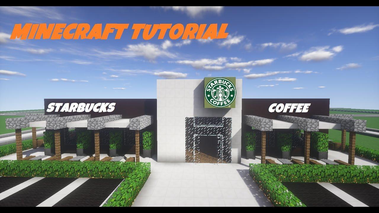 Minecraft Tutorial How To Build Starbucks Youtube
