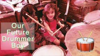 Our Future Drummer Boy!!