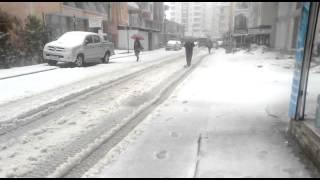 mersin de kar yağışı
