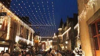 Les illuminations de Noël à Rochefort-en-Terre (56)