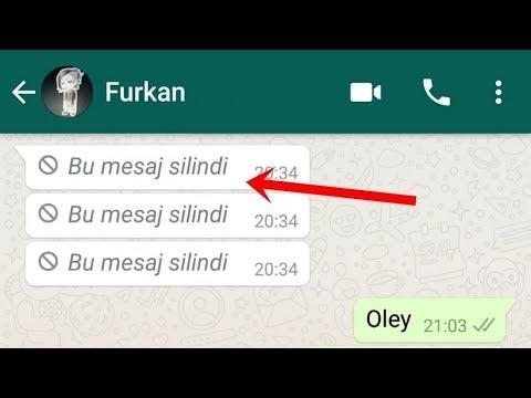 Whatsapp Herkesten Silinen Mesajları Görme