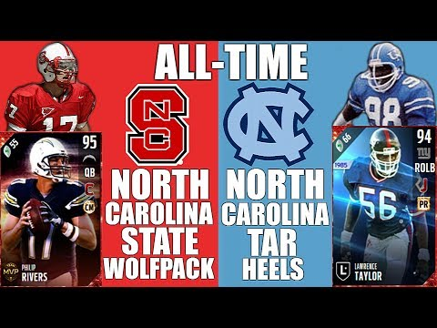 All-Time NC State Wolfpack + UNC Tar Heels Team - Philip Rivers and Lawrence Taylor! - MUT 17