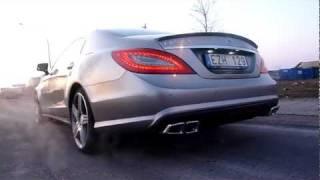 Mercedes CLS63 AMG Exhaust Sound 5.5 V8 Bi-turbo