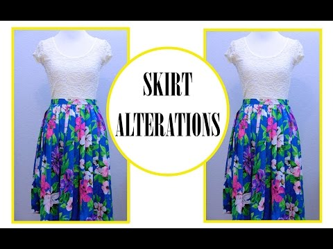 How to size down a Skirt, Sewing project for beginner