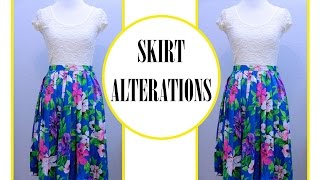 How to resize a Skirt, Sewing project for beginner