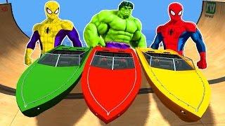 spiderman captain america hulk colors disney pixar cars lightning mcqueen colors