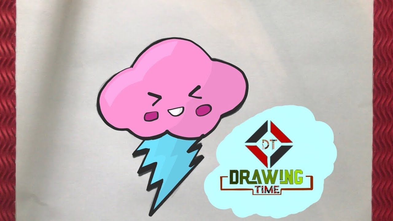 How To Draw Cute Cloud Cok Kolay Sirin Bulut Cizimi Youtube