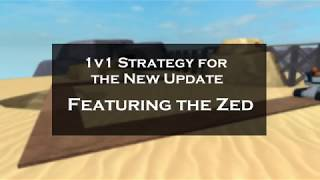1v1 Zed Strategy (a little bit outdated) | Tower Battles [ROBLOX]