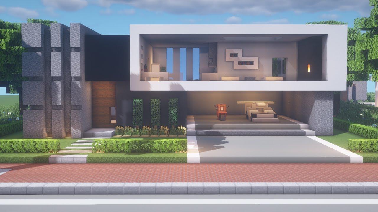 【Minecraft】 Modern House TutorialㅣModern City #3   BlogTubeZ