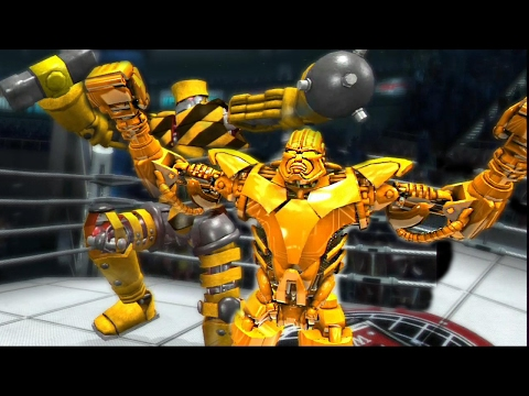 REAL STEEL THE VIDEO GAME -Gold ZEUS vs TOOLBOX & KONG TRON vs ZEUS(ЖИВАЯ СТАЛЬ)XBOX/PS3