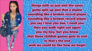 Miss Mulatto - Broken Record Player (Lyrics)