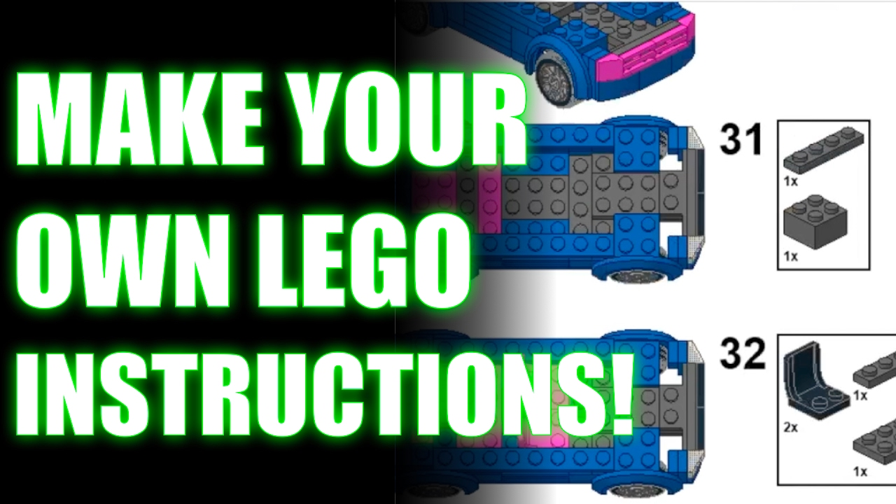Make your own Lego Instructions Tutorial!