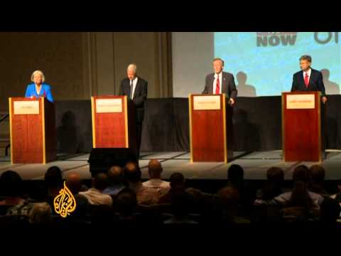 Third-party candidates face off in US debate