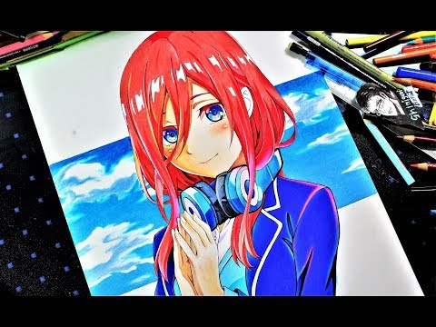Drawing Anime Girl - Miku Nakano【五等分の花嫁】