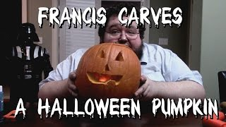 Francis Carves A Halloween Pumpkin