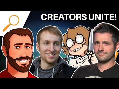 Creators Unite! LordMinion777, Elentori, Daemon Hatfield, and SwankyBox - GDEX 2016