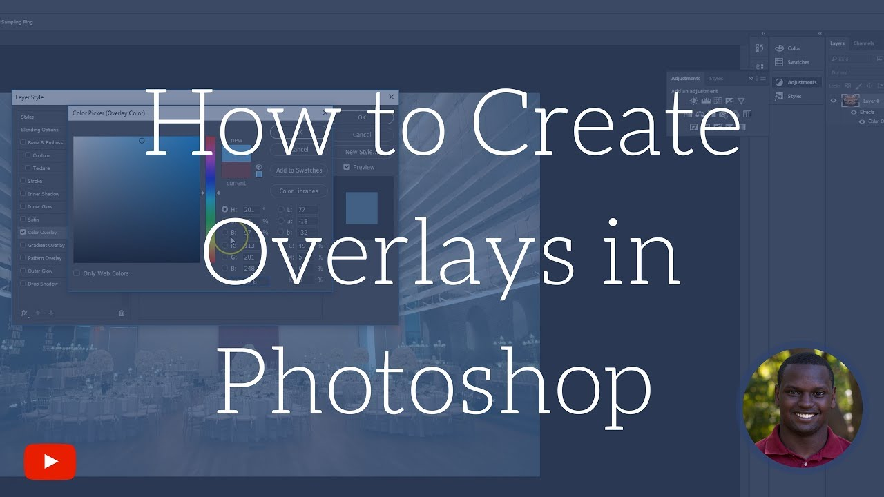 how to create color overlays in photoshop 3 ways youtube