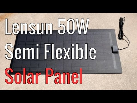 Lensun 50W Semi Flexible Solar Panel ETFE
