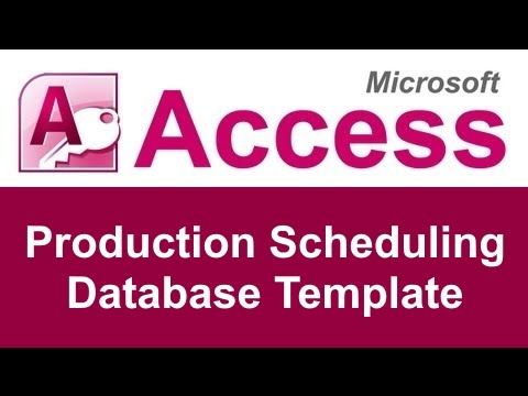 Microsoft Access Production Scheduling Database Template  Youtube