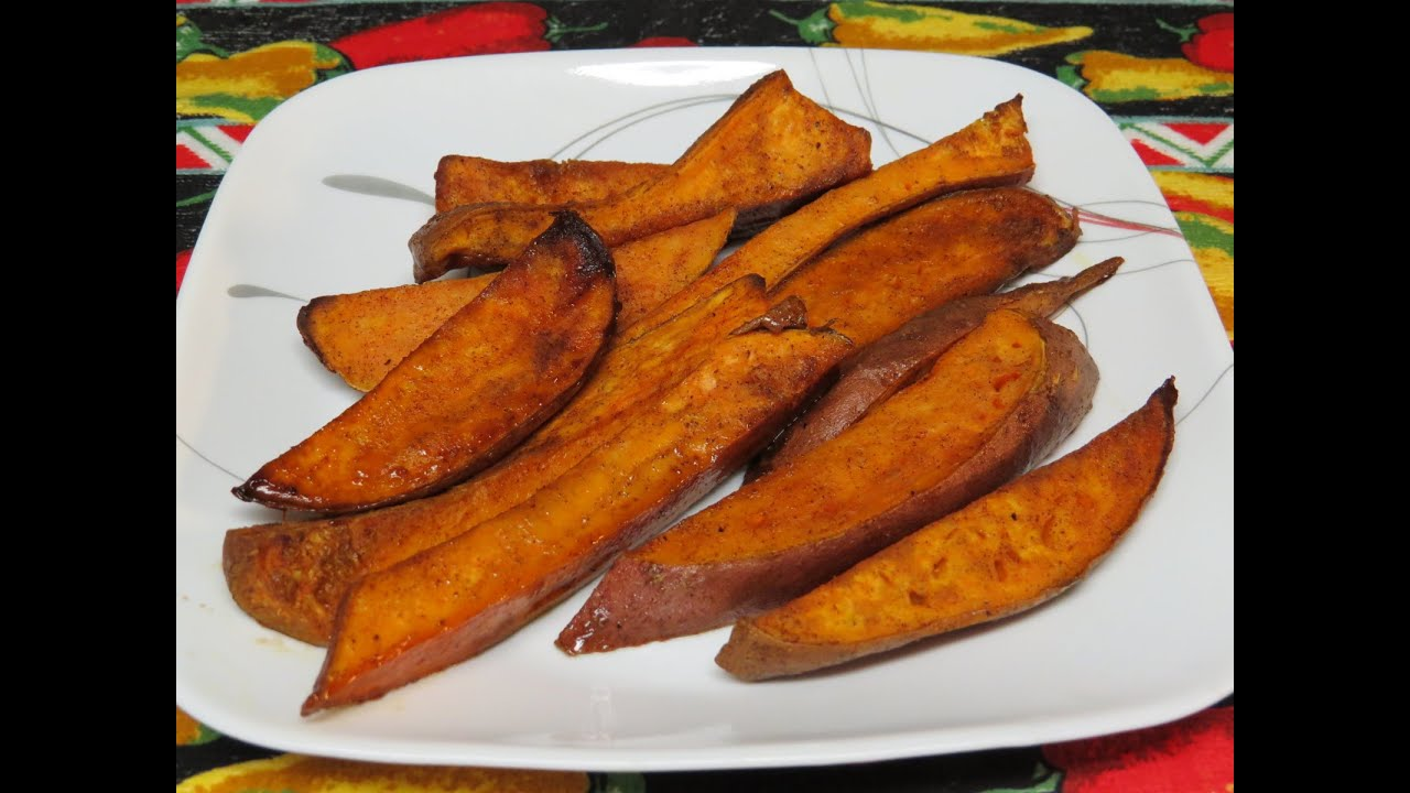 Sweet potato or yam fries cooked in the toaster oven youtube ccuart Gallery
