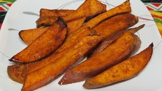 Sweet Potato Or Yam Fries Cooked In The Toaster Oven