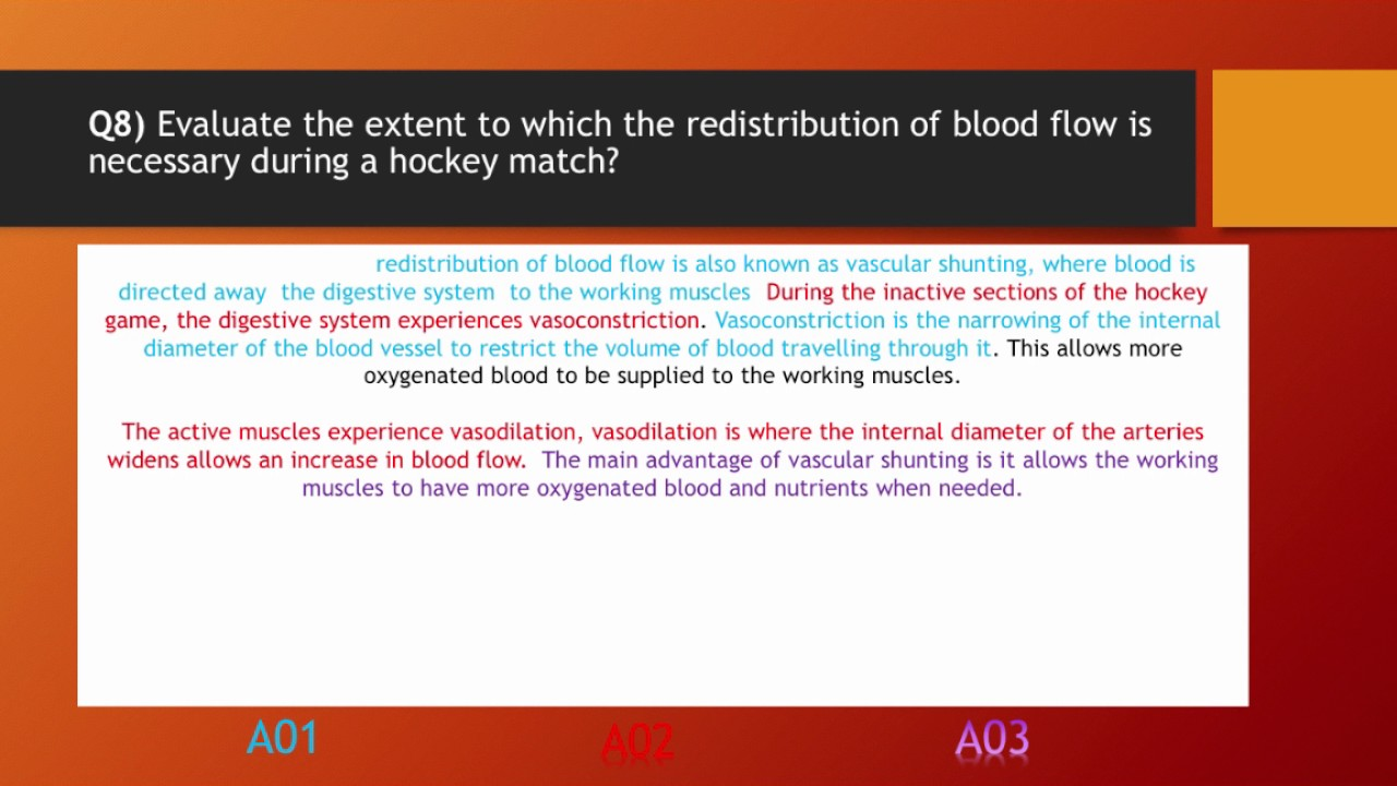 GCSE PE - Anatomy And Physiology End Of Unit Exam - \
