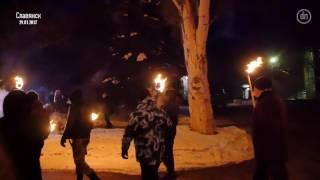 День памяти героев Крут на Донбассе  шествия и взрыв в Славянске