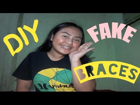 DIY FAKE BRACES!!! (CHEAP & EASY) VLOG#5