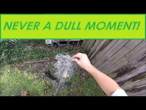 Full Service Lawn Care POV - Mowing, Trimming, Edging, Blowing (Real Time, Raw Aduio)