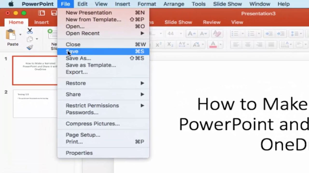 How to Narrate A PowerPoint and Share it with OneDrive