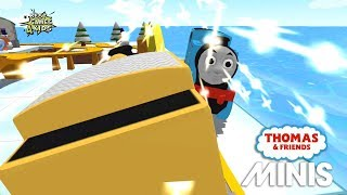 CONSTRUCTION THOMAS Vs SUPER HEROES THOMAS!   Thomas & Friends Minis #212   By Budge Studios