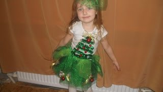 Новогодний костюм ёлочки для девочки своими руками / traje de árbol de Navidad para niña