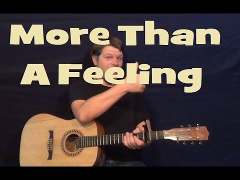 More Than a Feeling (Boston) Guitar Lesson Strum Chords Licks TAB How to Play Tutorial