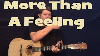 More Than a Feeling (Boston) Guitar Lesson Strum Chords Licks TAB How to Play Tutorial Mp3