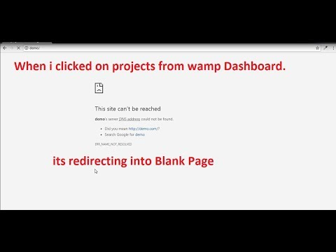 Wamp Server Localhost Projects Not Linked.