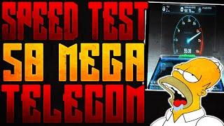 SPEED TEST TELECOM SUPERFIBRA 50 MEGA (50\10 VDSL FTTS, FTTC)