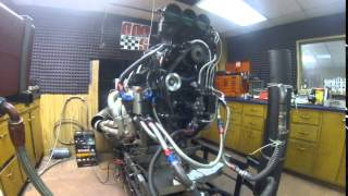 AMS Racing built BBC Blower engine on the dyno