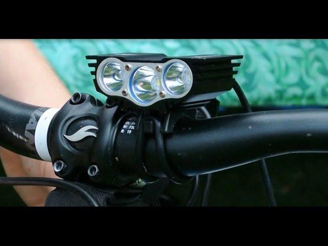 SolarStorm 15000LM 3x XM-L T6 LED Bicycle Light Headlight Bike Battery Rear Lamp