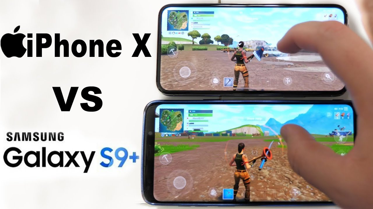fortnite iphone x vs galaxy s9 which phone plays it better - iphone x playing fortnite