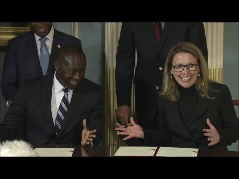 Liberia Millennium Challenge Compact Signing