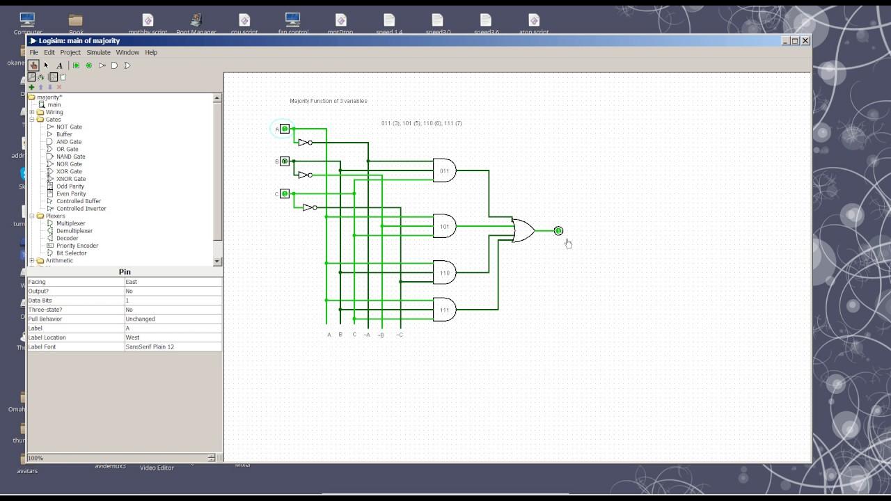 Majority Function Circuit Youtube Electrical Diagram Of Xor Gate